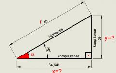Açı ve Kenar Hesaplama - Trigonometri - cnc